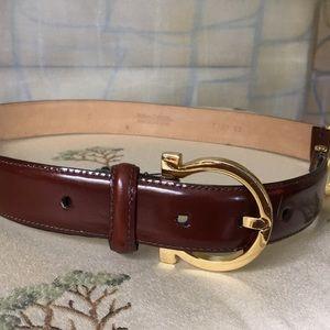 Accessories - Ferragamoesque Hardware on Leather Belt